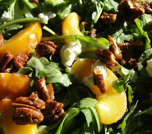Peach and Pecan Summer Salad