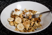 Passover Recipe: Matzo Brei with Bananas and Pecans